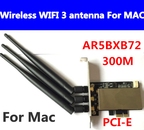 Free Shipping 1pcs MACPRO AR5BXB72 PCI-E Airport Extreme Dual frequency Wireless WIFI Card 3 antenna For All Mac Pro 2006-2012