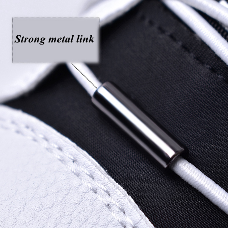 1 Pair Elastic Shoelaces Round Shoe laces No Tie Metal Spring Buckle Lock Shoelace Convenient Quick Leisure Sneakers Lazy laces in Shoelaces from Shoes