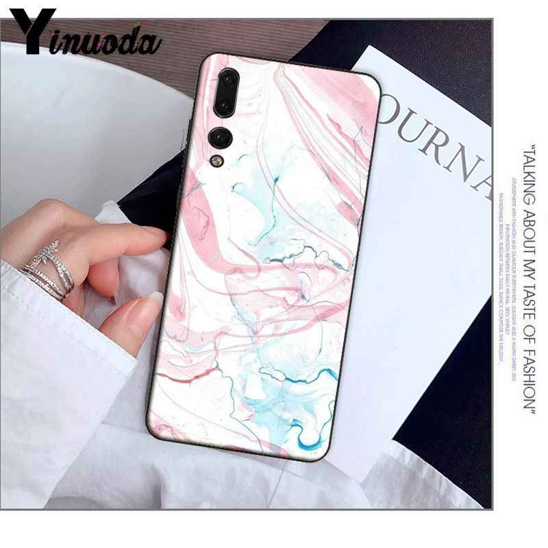 Yinuoda marble Newly Arrived Black Cell Phone Case for Huawei P9 P10 Plus Mate9 10 Mate10 Lite P20 Pro Honor10