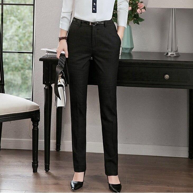 US $22.41 10% OFF|Formalne kobiety spodnie Slim biuro panie czarne spodnie ubrania damskie OL style|Spodnie i spodnie capri| AliExpress