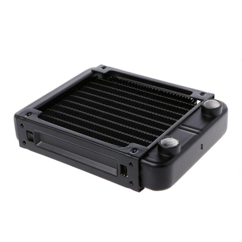 120mm Aluminum Computer Radiator Water Cooler 10 Tube CPU Heat Sink Exchanger