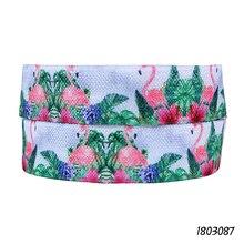 50 ярдов/партия) Лента Флора с цветочным принтом и фламинго