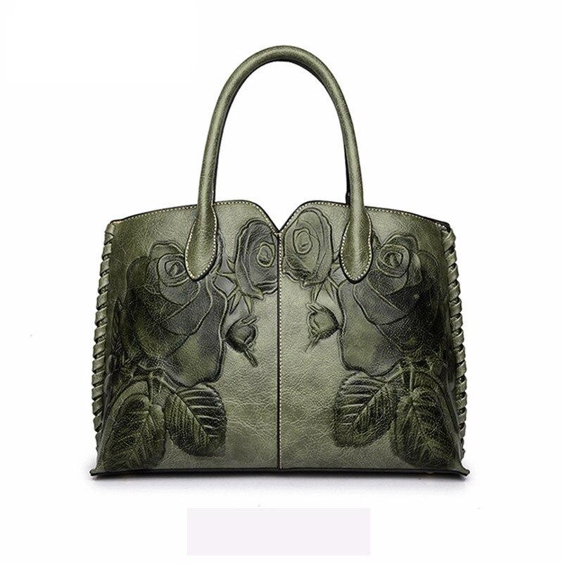 2019 Bolsa Feminina 2019 Ladies Genuine Leather Bag For Women Green Luxury Handbag Female Embossed Messenger Bag Brand Totes2019 Bolsa Feminina 2019 Ladies Genuine Leather Bag For Women Green Luxury Handbag Female Embossed Messenger Bag Brand Totes
