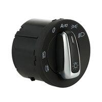 Kris Chrome Headlight Switch Control Fit For VW GOLF JETTA MK5 MK6 PASSAT CC B6