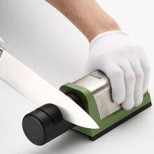 Electric knife sharpener Two Stages Diamond Kitchen Knife 2 Slot Steel Ceramic Home Sharpener