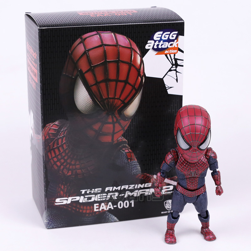 egg attack the amazing spider man 2 spiderman eaa 001 pvc action figure collectible model doll toy 17cm kt3634 Egg Attack The Amazing Spider-man 2 Spiderman EAA-001 PVC Action Figure Collectible Model Toy