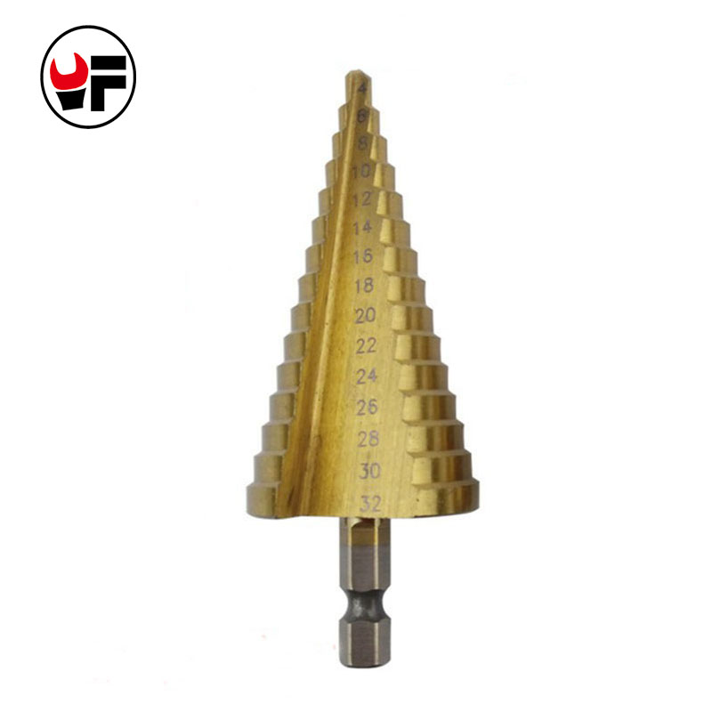 4-32mm HSS 4241 Hex Titanium Stepped Cone Mini & Metal Steel Drill Bit High Speed Power Tools Sheet Screw Drill Bit Set DZ134 ninth world 13pcs 1 5 6 5mm hexagonal screw drills power tools woodworking tools high speed steel 1 4 hex shank drill bit set