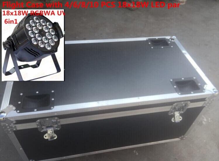 Flight Case with 4/6/8/10pcs 18x18W LED Par Lights  rgbwa uv 6in1 led par light led wash light