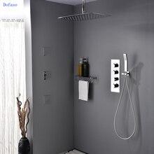 Dofaso shower head faucet ceiling set big wafterfall Embedded Ceiling Spout Bath & Shower Faucet