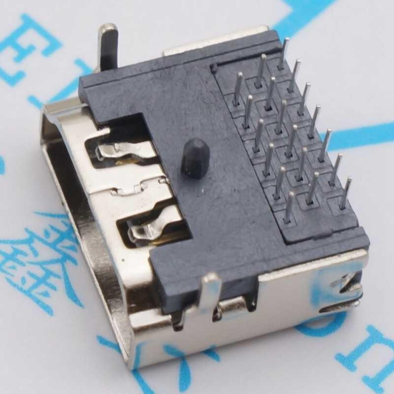 10 шт. HDMI 19 контактный разъем женский интерфейс разъем 3 ряда 19pin (7pin 6pin 6pin) 90 градусов HDMI Разъем Ремонт Замена