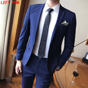 Left ROM Tuxedo Slim Fit Suit For Men Groom wedding dress
