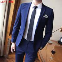 Mens Wedding Suits Tuxedo Set Slim Fit Man Suits Brand Blazer Masculino Dress Suit For Men ukraine Groom wedding dress