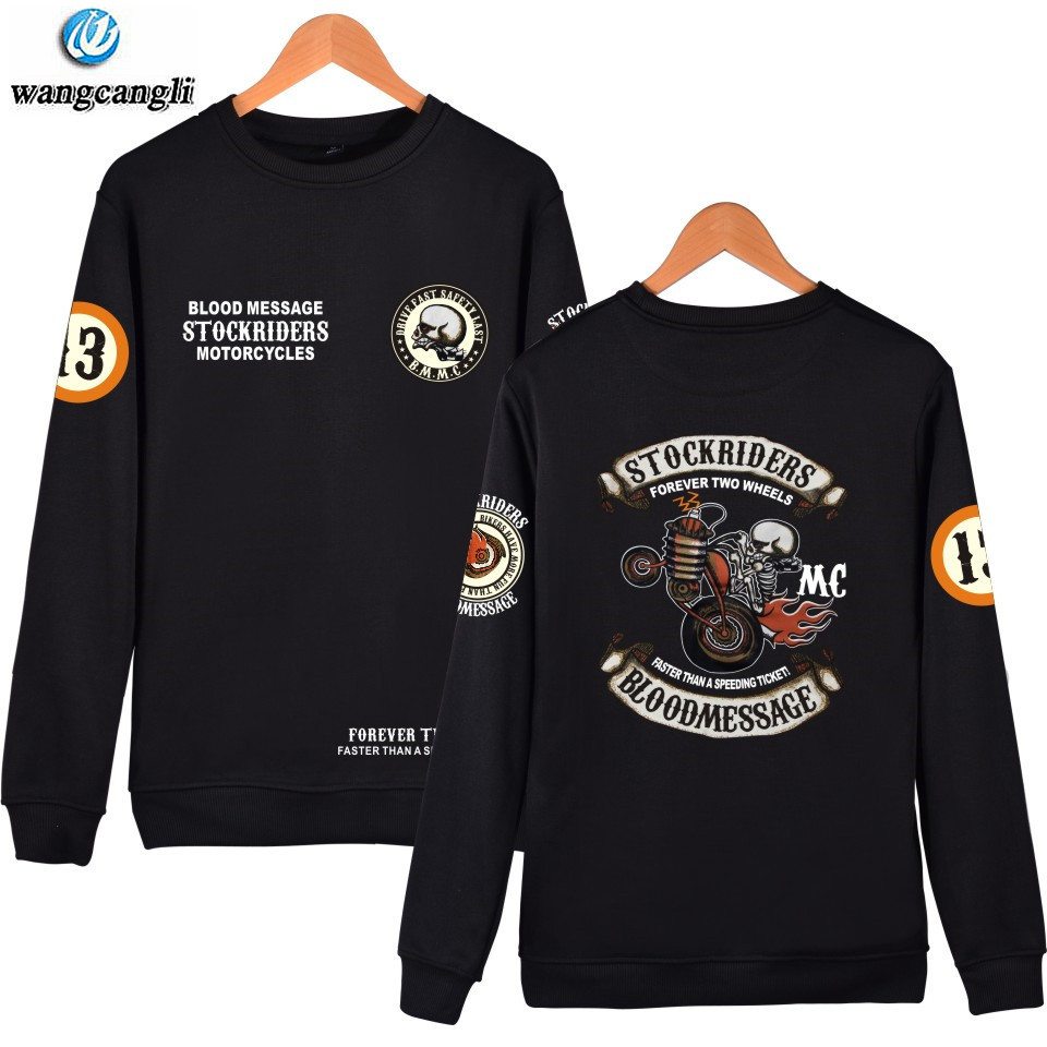 Skull Stockriders Motorcycle Fashion Hoodies Sweatshirt Skull Locomotive Long Sleeve Hoodie Harajuku Punk Tracksuit Tops Clothes