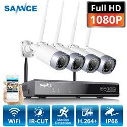 SANNCE 1080P 8CH bezprzewodowa kamera do monitoringu System 4 sztuk 2MP odporne na warunki atmosferyczne kryty zewnętrzne wifi kamery metalowe bezprzewodowy dostęp do internetu zestaw cctv w Systemy nadzoru od Bezpieczeństwo i ochrona na