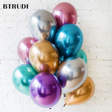 BTRUDI  Metallic Latex Balloons50pcs 12inch Thick Pearly Metal Chrome Alloy Colors Photograph Wedding Party Decoration Balloons