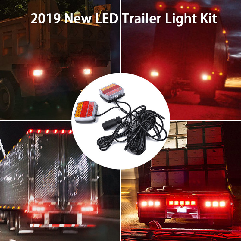 Kongyide lumière de voiture 2 pièces 12 V LED Submersible remorque lumière clignotant indicateur de sécurité voyant rouge jaune Luz de remolque jy10