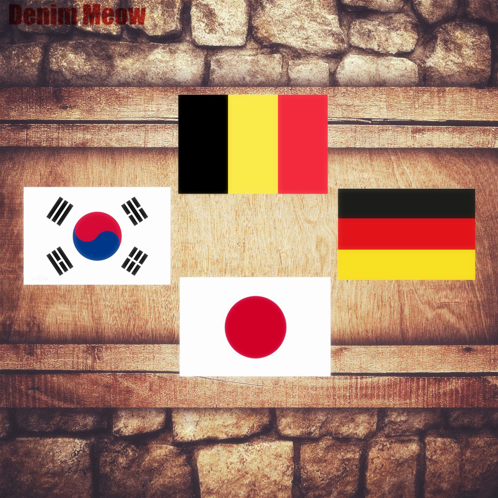 Football Plaque Vintage Metal Tin Signs Home Bar Pub Decorative Plates National Flag Wall Stickers Japan Iron Poster N218
