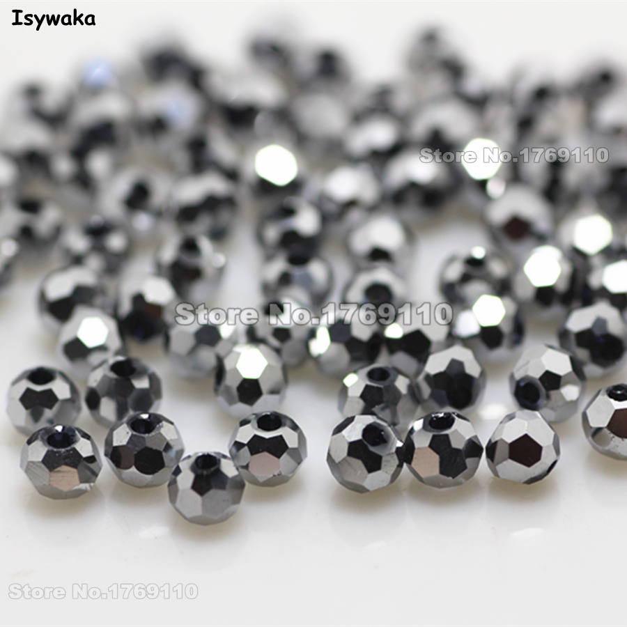 Isywaka Non-hyaline White Ab Color 98pcs 4mm Round Austria Crystal Bead Ball Glass Bead Loose Spacer Bead For Diy Jewelry Making Jewelry & Accessories