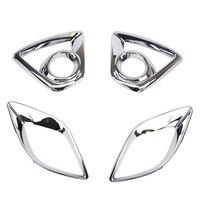 For Mazda CX 5 CX5 Chrome Front Fog Light & Rear Bumper Lamp Cover Trim 2013|Lamp Hoods| |  -