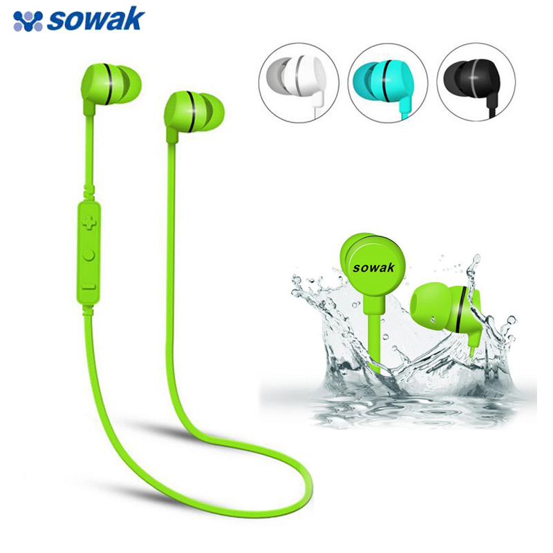 SOWAK Headphone Bluetooth Wireless Earpiece Headset Stereo Mic Earphone Sport Handsfree Bluetooth Ear Phone for Xiaomi iphone new stereo headset bluetooth earphone headphone mini v4 0 wireless bluetooth handsfree universal for smart phone iphone samsung