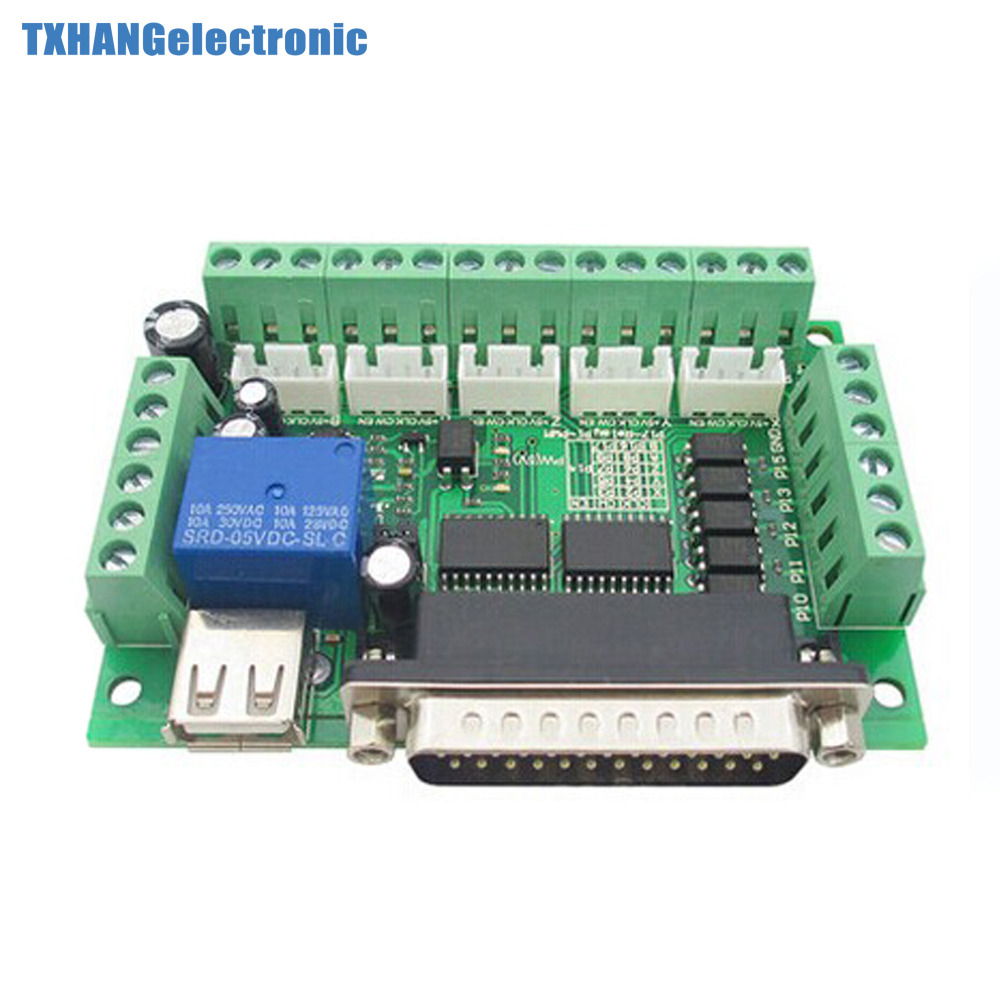 5 Axis CNC Breakout Board With Optical Coupler For Stepper Motor MACH3 Driver