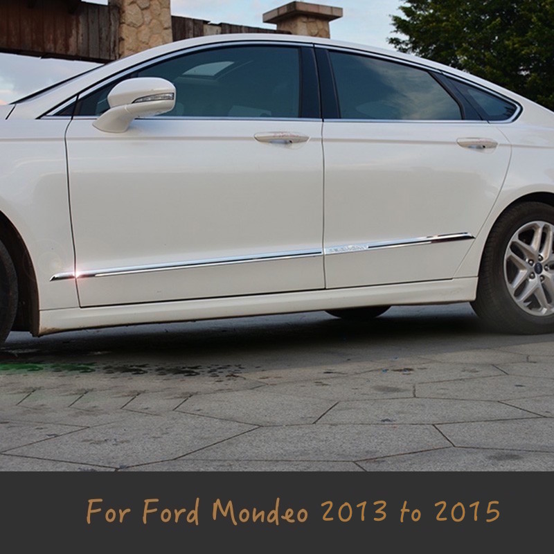 For Ford Mondeo/Fusion MK4 2013 Auto Body Side Door Body trim sticks Strips Molding 2013 2014 2015 4pcs Car Styling Accessories стоимость