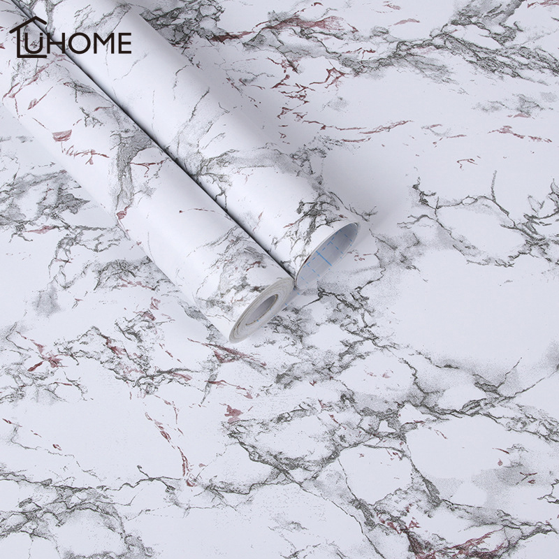 10m Modern Waterproof Vinyl Self Adhesive Wallpaper Marble Contact Paper Kitchen Cupboard Shelf Drawer Liner Wall Stickers