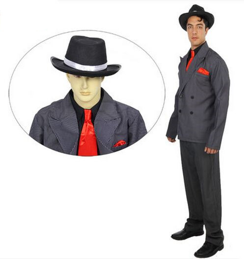 gangdom costumes for men halloween costumes for men festive costumes performance clothing man suit classic business attire men - Classic Mens Halloween Costumes