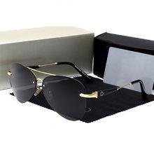 714337808f442 ESPAÇO de Aviação benz Óculos De Sol Dos Homens Polarizados Marca Designer  Oculos de
