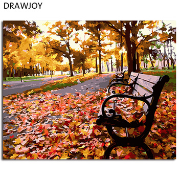 DRAWJOY Framed Landscape Pictures DIY Painting By Numbers Home Decor For Living Room Canvas Oil Painting Coloring By Numbers