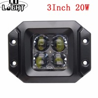 CO LIGHT Hot Sale Led Light Bar 1pcs 3 Inch 20w Tractor Boat OffRoad 4WD 4x4