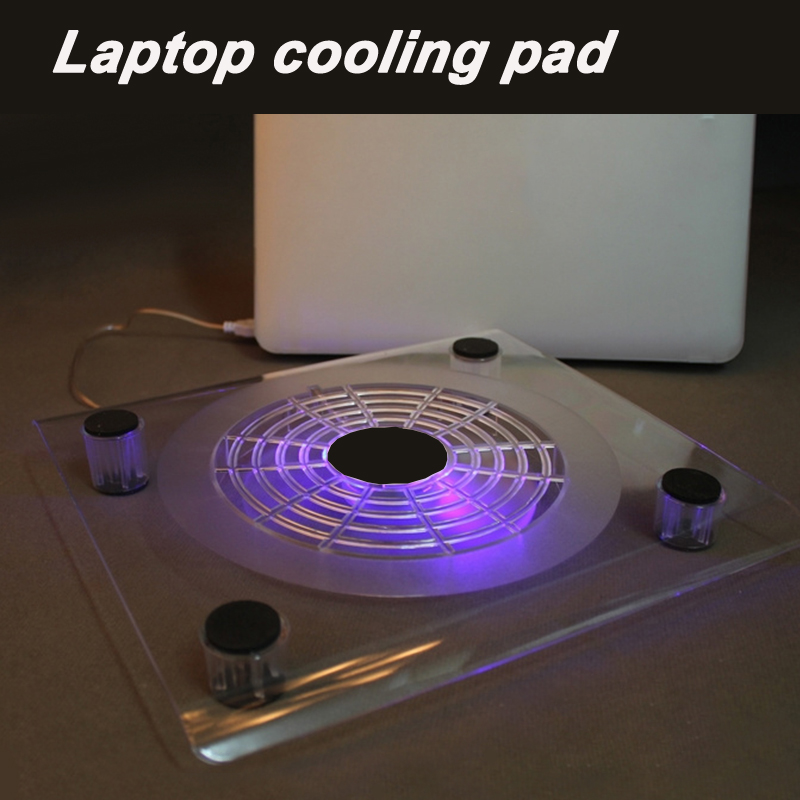 New ! Portable laptop cooler with usb fan top quality suporte para notebook with led light stand laptop cooling pad for 10-14