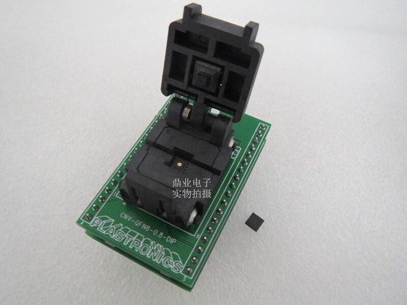 QFN8/DIP USON8/DIP8 4X4 MM espacement 0.8mm IC brûlant adaptateur de siège Test siège test prise banc d'essai en stock livraison gratuite