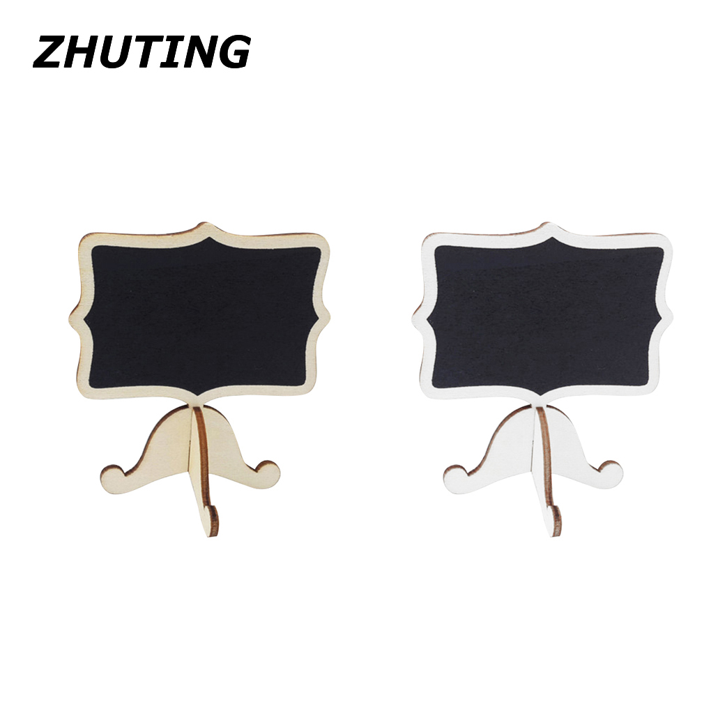 10pcs Mini Chalkboards with Support Easels for Message Board Signs Weddings Writing blackboard party decoration 50pcs lot factory supply blackboard clamps note folder photo clip mark chalkboards paper clips message folders mini wooden