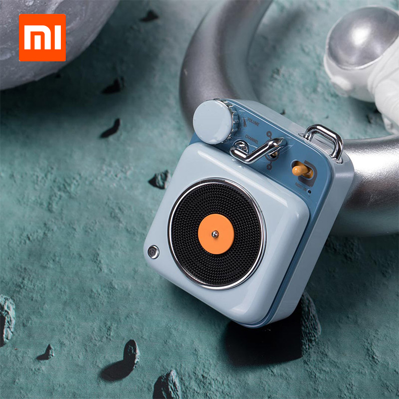 In Voorraad Xiaomi Cat Koning Atomic Mini Platenspeler B612 Bluetooth Intelligente Audio Draagbare Zink Aluminium Shell Leuke Speaker D5