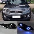 Car styling Fit Honda CRV 2012-2014 Luces LED de Circulación Diurna DRL faros de niebla Lente Del Proyector Angel Eyes + Kit