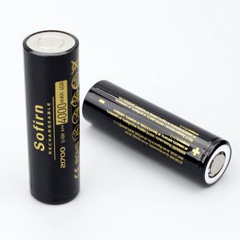 Sofirn 21700 4000mAh bateria 40A 3 7V 10C akumulator litowy rozładowanie 21700 komórka Poweful wysoki odpływ baterie do latarki tanie i dobre opinie 21700-4000 Li-ion Baterie Tylko Pakiet 1 1PCS 2PCS 4PCS 6PCS Battery Storage Boxes Sofirn 21700 4000mAh Battery