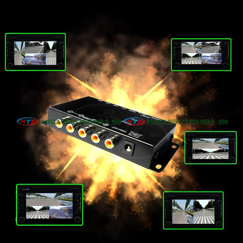 car camera quad control system box for rear left front right view camera