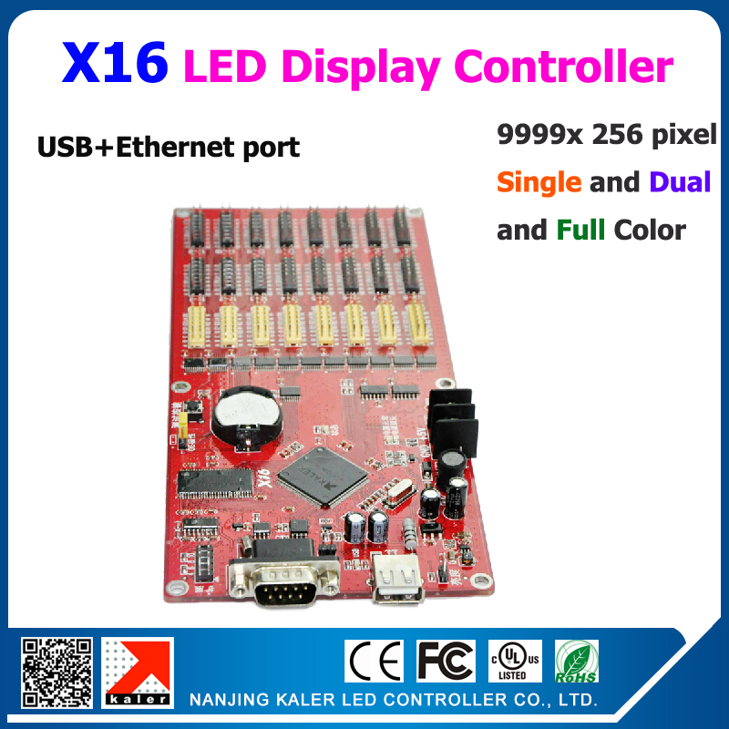 Kaler X16 9999x256 Scrolling Message Display Controller For Big Outdoor Indoor Full Color Led Message Display Board 5 Pcs A Lot