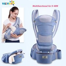 0-48 m ergonômico portador de bebê infantil hipseat transportadora frente enfrentando ergonômico canguru envoltório do bebê sling para o curso do bebê