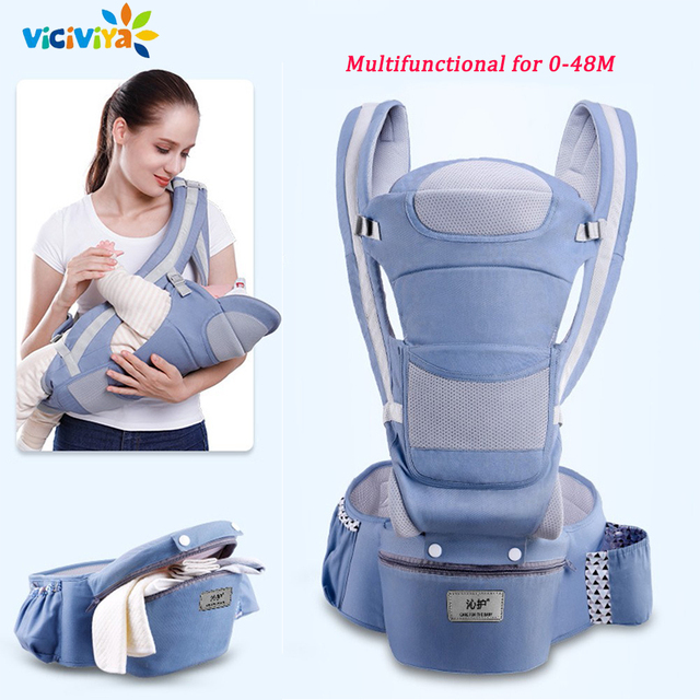 Portabebés ergonómico de 0 a 48M, portabebés para bebé, portador de asiento de bebé, portabebés frontal ergonómico, eslinga para bebé de viaje