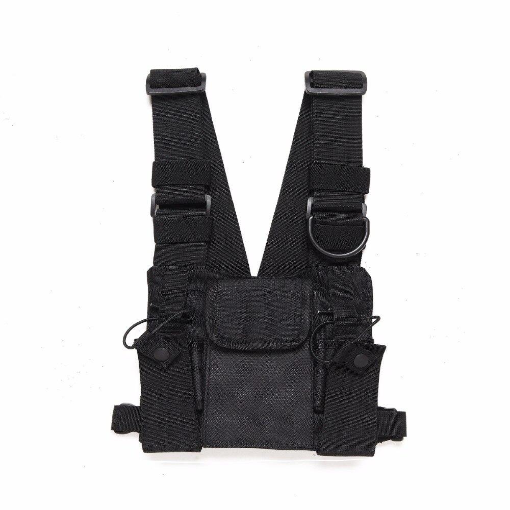 Abbree Radio Brust Harness Brust Vorne Packung Beutel Holster Weste Rig Brust Tasche für Walkie Talkie Motorola Baofeng TYT Wouxun