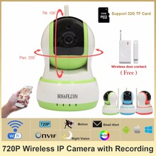 HOSAFE 1MW20 CMOS 1.0MP Home Security IP Camera w/ 10-IR-LED, Door&Window Sensor, TF Card Support ONVIF Free Shipping