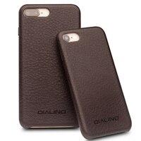 QIALINO Hakiki Deri Lüks Case Arka iPhone 8 için El Yapımı Ultra İnce Moda Telefon Kapak iphone 8 artı için 4.7/5.5 inç