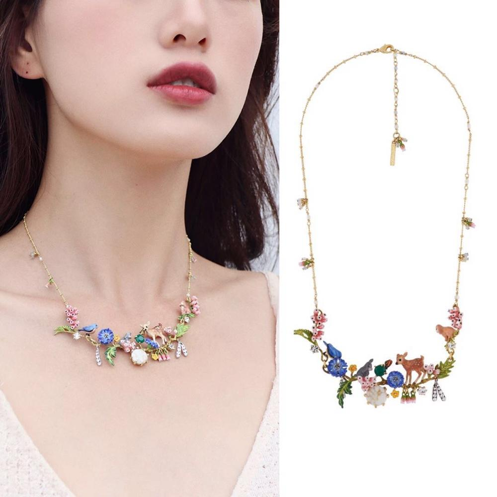 2019 Amybaby Handmade Fashion Designer Enamel Glaze little Fawn Womens Necklace Jewelry For Party