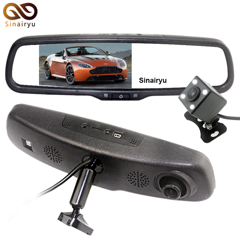 Original Bracket 5 Inch 1920x1080P Car Mirror DVR Video Monitor For BMW Audi VW Ford Kia Hyundai Toyota Mazda Honda Opel Suzuki 1set automobiles exhaust pipe modification car refitting for bmw vw audi opel ford renault toyota honda nissan lada mercedes kia