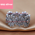 PJR042 FreeShipping 925 silver ring . flower ring with stone luxury jewerly. Fashion women Jewelry rings for woman