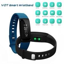 V07 smart Сердечного ритма браслеты кровяного давления pedomet фитнес-трекер SMS вызова напомнить для IOS Android Bluetooth браслет
