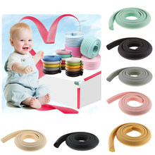 2M L Shape Rubber Band Tafel Kast Edge Guard Baby Kids Veiligheid Corner Protection Home Decoratie(China)
