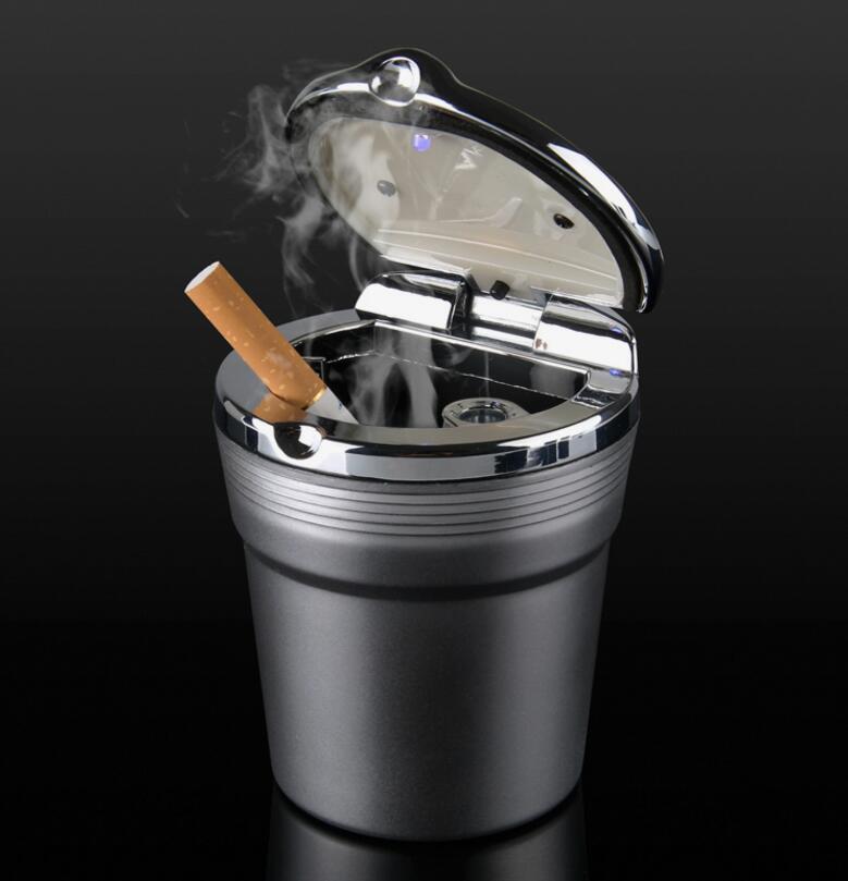 High Quality Car Led Ashtray Holder Cup Cigarette Ash Box For Peugeot 206 207 3008 2008 408 508 4008 For Citroen C3 C4 C5 C2 201
